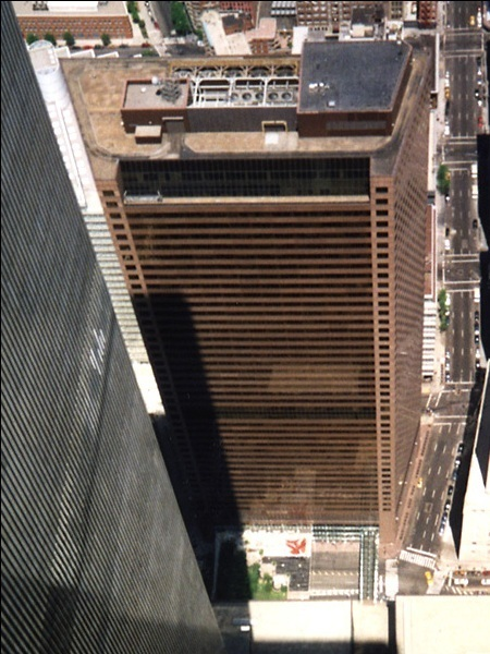World Trade Center 7, as seen from the top of World Trade Center 2.