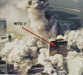 "FEMA's caption next to the picture reads: ""Note the two mechanical penthouses of WTC7 are intact."" Also note that there is an altogether lack of debris on the roof of WTC7. Finally, note that WTC 5 and 6 are not visible. They have been completely engulfed in dust and debris."