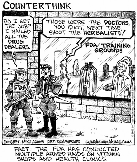 "FDA SWAT ""Training"" Session (Artwork by NaturalNews.com)"