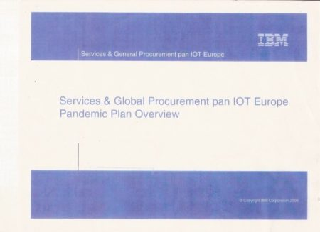 First Page of IBM Pandemic Document