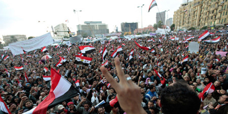 Egyptians take to the streets
