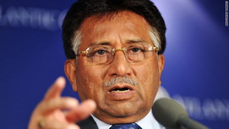 Pervez Musharraf went into self-imposed exile in London after resigning in 2008 (photo by CNN)