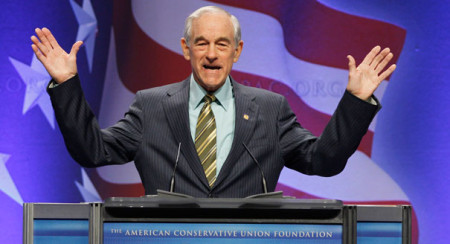 """""""Just think if we had influence in the media,"""" said Ron Paul (photo by AP)"""