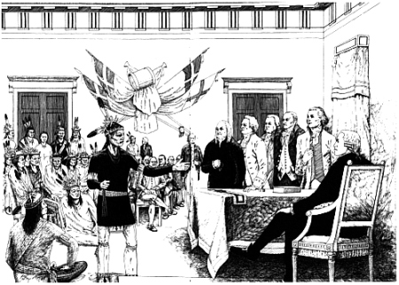 On June 11 1776, an Onondaga sachem gave John Hancock an Iroquois name at Independence Hall.