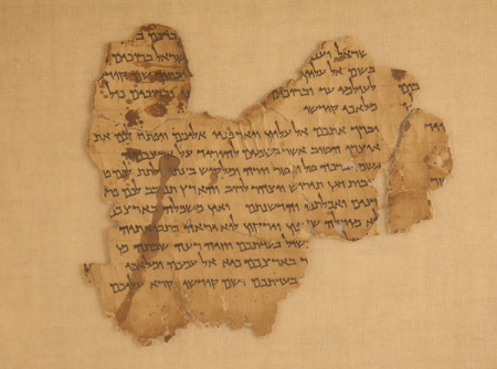 "Fragment 1, Column II (4Q285 1) of the ""Sefer ha-Milhamah,"" (or, ""Book of War""), within the Dead Sea Scrolls."