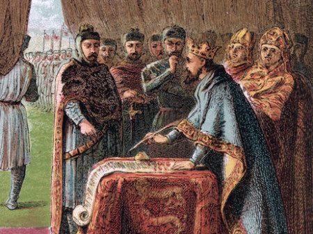 The barons wanted King John to stop seizing their grain
