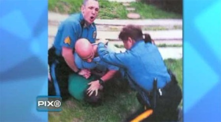 "Officer Regina Tasca attempts to stop fellow cops from using excessive force against a ""suspect"""