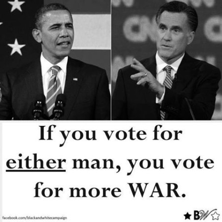 """""""If you vote for either man, you vote for more WAR."""""""