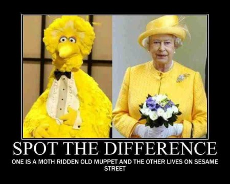 """Spot the Difference: One is a moth-ridden old muppet and the other lives on Sesame Street"""