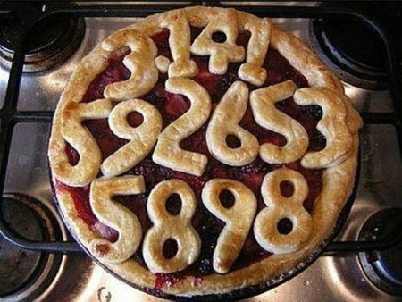 A pie containing pi