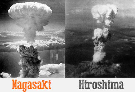Nagasaki and Hiroshima Being Atomically-Bombed by American Military