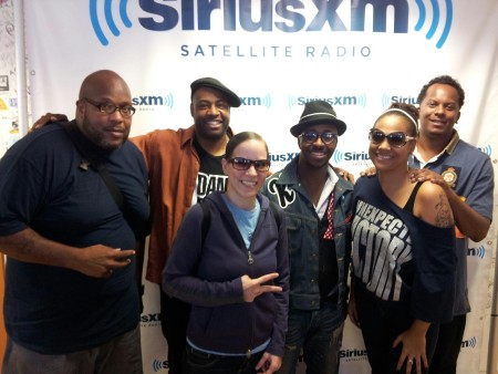"A photo my sister took of me with Chubb Rock, Dana Dane, KWAMÈ, Monie Love, and Special Ed of ""the Alumni"""