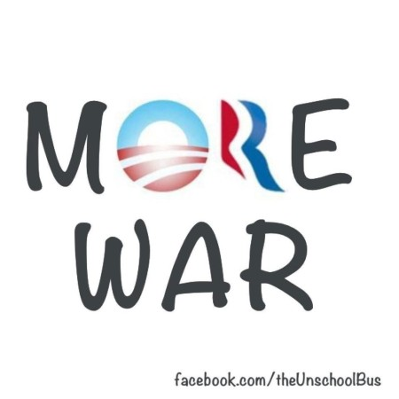 """More War"" (artwork by Kelly Halldorson of ""The UnschoolBus"")"