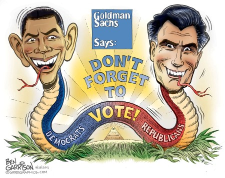 """Goldman Sachs Says: DON'T FORGET TO VOTE [Democrats, Republicans]"""