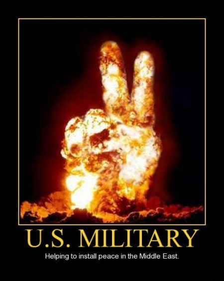 """""""U.S. Military: Helping to install peace in the Middle East"""""""