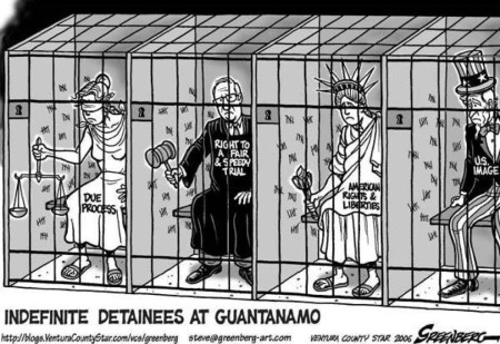 """Indefinite detainees at Guantanamo: Due Process, Right to a Fair & Speedy Trial, American Rights & Liberties, U.S. Image"""