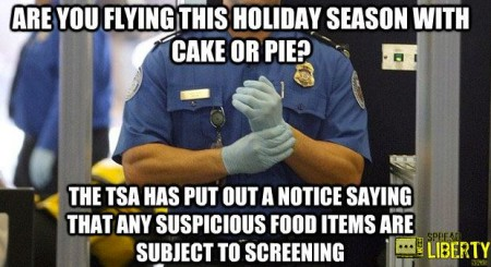 """Flying this holiday season with cake or pie? TSA has put out notice saying any suspicions food items subject to screening"""