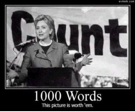 """C-unt 1000 Words This picture is worth 'em"""