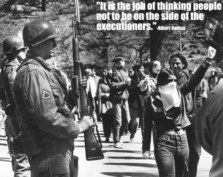 """It is not the job of thinking people to be on the side of the executioners."" - Albert Camus"
