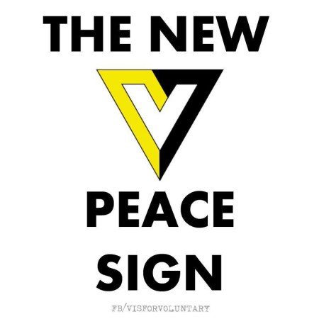 """The New (V) Peace Sign"""