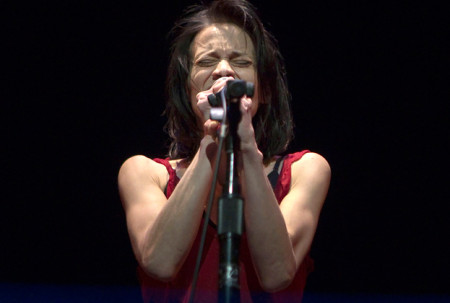 Fiona Apple performs her music for an audience in Portland, Oregon