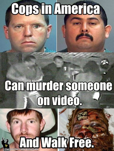 """Cops in America… can murder someone on video… and walk free."""