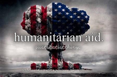 """""""Humanitarian Aid. #juststatistthings"""""""
