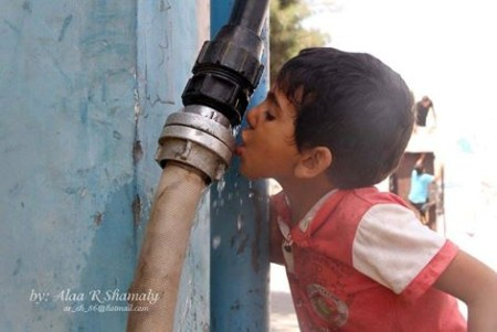 """Today is the fifth day Israel has cut off water to the Gaza Strip"""