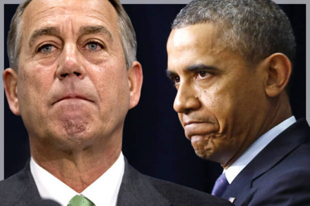 Republican Speaker of the House, John Boehner, and President Barack Obama