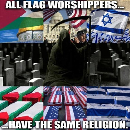 """All flag worshipers have the same religion"""