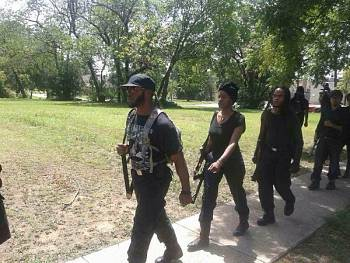 Huey P. Newton Gun Club gathered to march through South Dallas, Texas