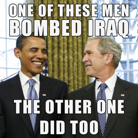 """One of these men bombed Iraq. The other did, too."""