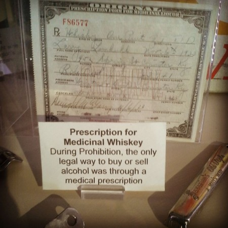 """Prescription for Medicinal Whiskey: During Prohibition, the only legal way to buy or sell alcohol was through a medical prescription"""