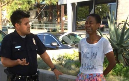 Actress Danièle Watts, handcuffed and detained by LAPD