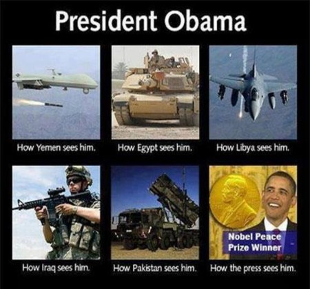"""President Obama: How Yemen sees him. How Egypt sees him. How Libya sees him. How Iraq sees him. How Pakistan sees him. How the press sees him."""