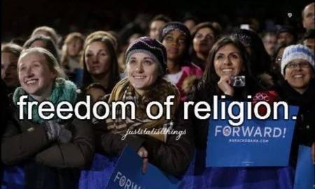 """Freedom of religion #JustStatistThings"""