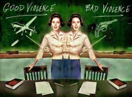 """Good violence. Bad violence."""