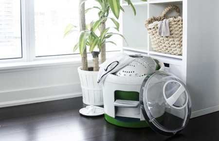 "Introducing ""Drumi,"" the foot-powered washing machine"