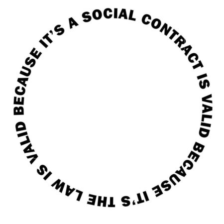 """A social contract is valid because it's the law is valid because it's..."""