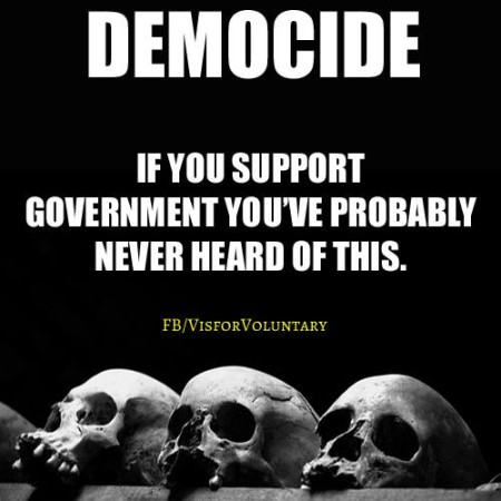 """Democide: if you support government, you've probably never heard of this."""
