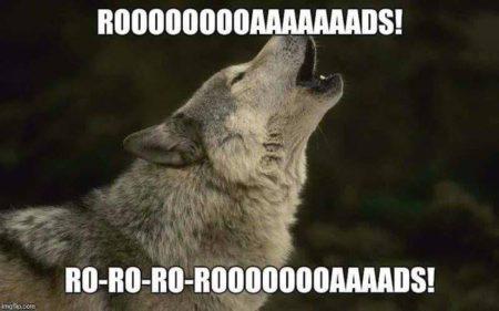 """Rooooooooaaaaaaads! Ro-ro-ro-roooooooaaaads!"""