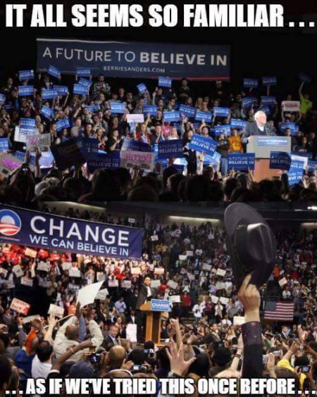 """""""It all seems to familiar...<BR> (A future to believe in)<BR> (Change we can believe in)<BR> ...As if we've tried this once before..."""""""