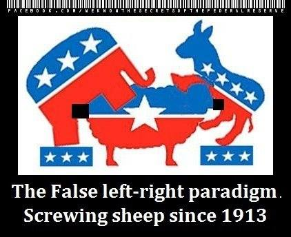 """The false left-right paradigm. Screwing the sheep since 1913."""