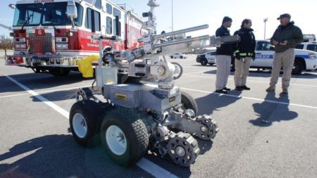 Lethal police robot