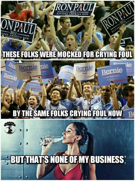 """""""These folks were mocked for crying foul by the same folks crying foul, now... But, that's none of my business"""""""