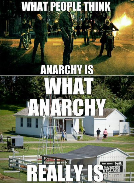 """What people think Anarchy is What Anarchy really is"""
