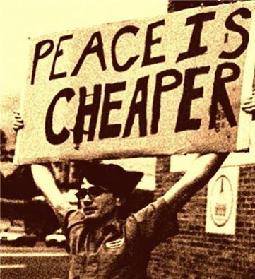 """Peace is Cheaper"""