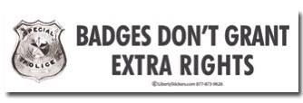 """Badges don't grant extra rights"""