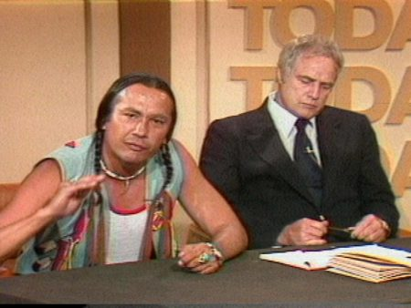 Russell Means and actor, Marlon Brando, on the Today Show