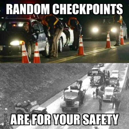"""Random checkpoints are for your safety"""